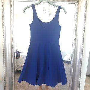 H&M Dresses - H&M Vibrant Blue Fit and Flare Dress